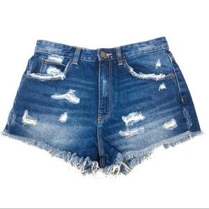 Pants - Zara Trafaluc size 4 Distressed Denim Jean Shorts